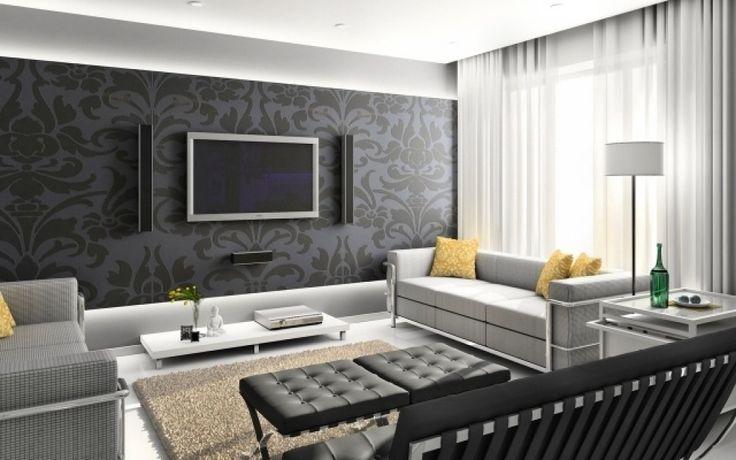 deko tapete wohnzimmer wandgestaltung tapete wohnzimmer florale ...