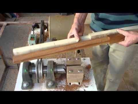 maquina p\ arredondar madeiras de até 50 m\m - YouTube