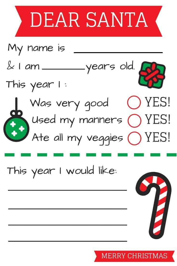 Free Letter To Santa Template Pdf Santa Letter Template Free Santa Letter Template Santa Template