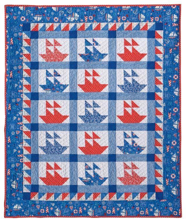 79 best Quilt - Boat images on Pinterest | Nautical quilt ... : sailboat quilt pattern - Adamdwight.com