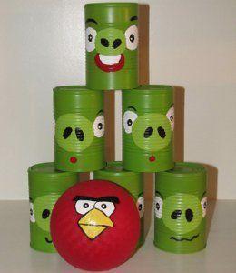 Angry Birds Can Bowling   AllFreeKidsCrafts.com