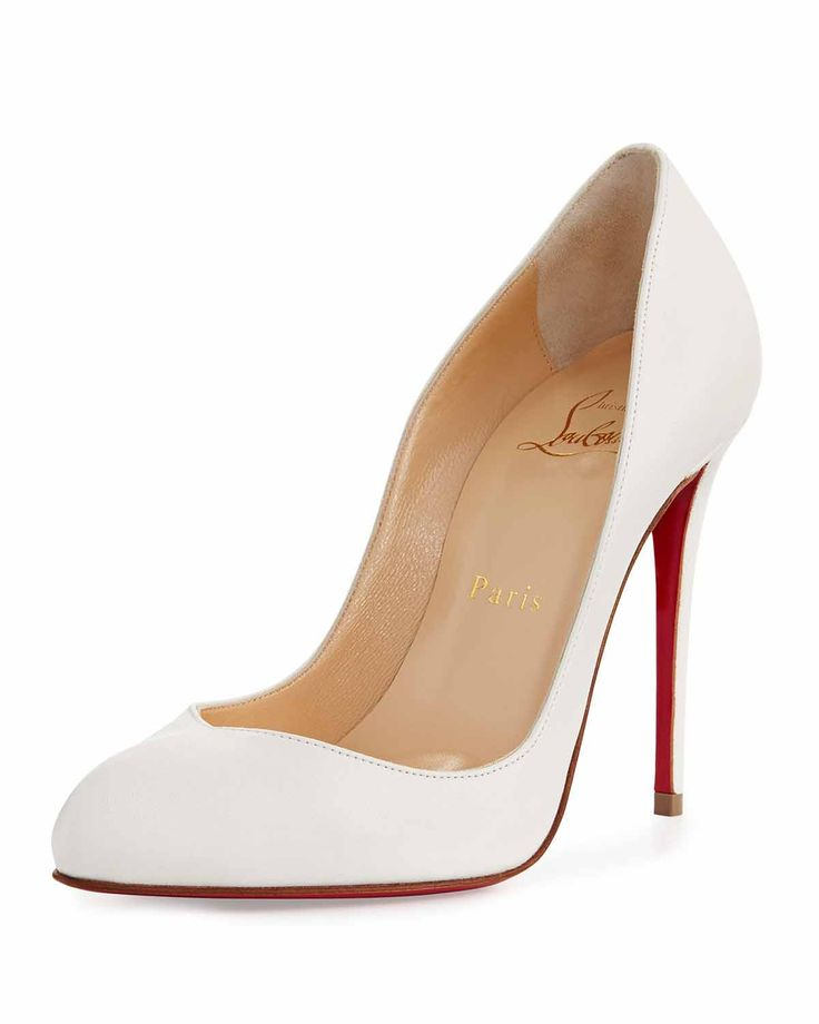 Christian Louboutin Breche Leather 100mm Red Sole Pump | Buy ➜ https://shoespost.com/christian-louboutin-breche-leather-100mm-red-sole-pump/