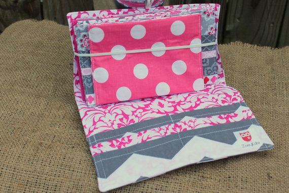 Pink and Grey Chevron Cash Envelope Wallet Budget System