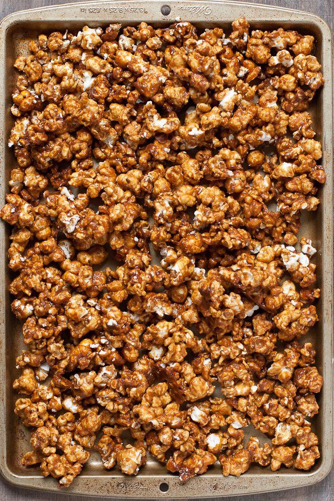 Vanilla Honey Salted Caramel Popcorn PineappleandCoconut.com