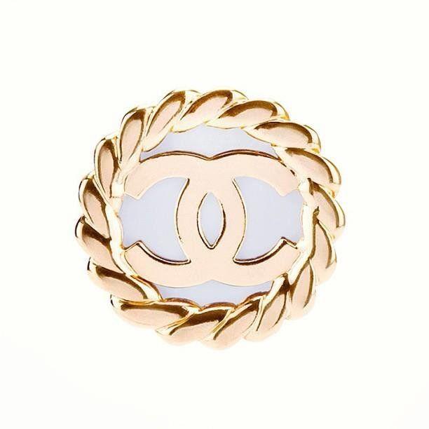 Fancy - Vintage Chanel Logo Earrings