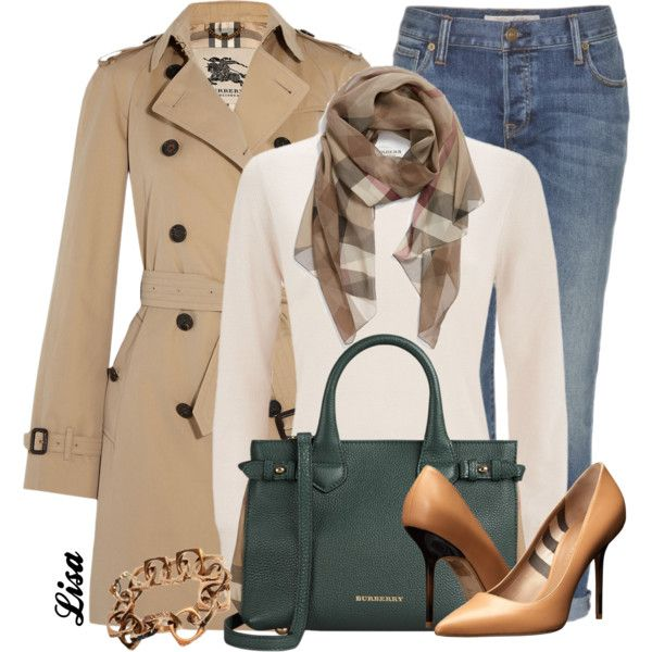 A fashion look from March 2015 featuring Burberry, trench coat and white jeans. Browse and shop related looks.