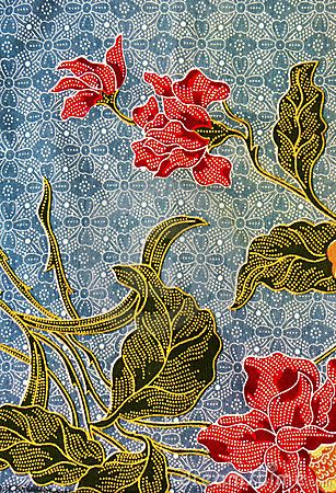 Detailed batik print background, Trengganu, Malaysia