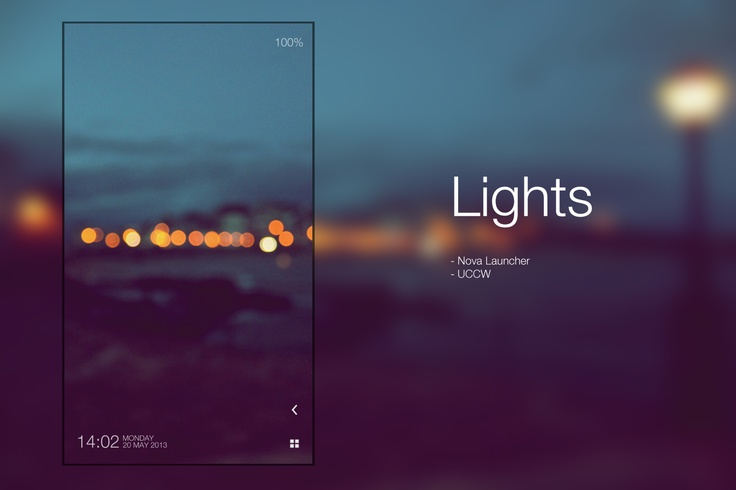 Lights Android Homescreen by dhkx - MyColorscreen