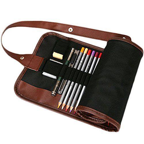 beautyhouse Lienzo Wrap Soporte 36/48/72 agujeros Funda Blanda de lápices de rollo de núcleos enrollable estilo múltiples utilizar con estuche bolsa organizador estuche para lápices de colores (no incluye lápices), color negro 36, http://www.amazon.es/dp/B01FROBG0G/ref=cm_sw_r_pi_awdl_x_ND2OxbHD857C8