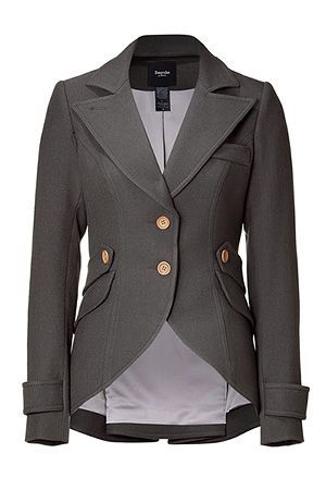 SMYTHE  Slate Hunting Jacket with Arm Patches. WANT!