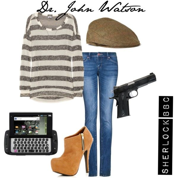 Dr. John Watson Outfit, created by gimarcondes on Polyvore