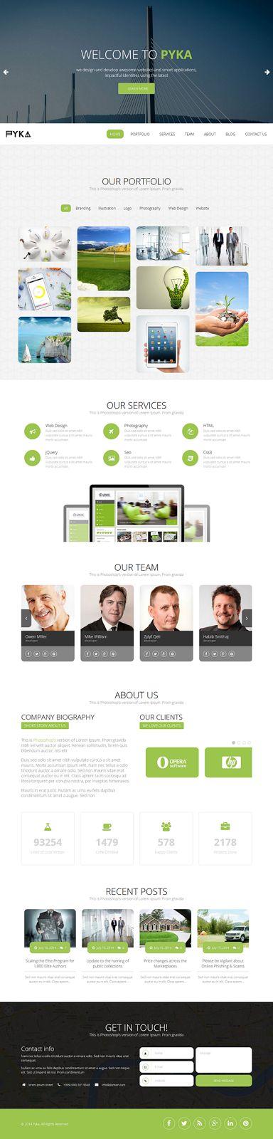 Pyka Single Page #WordPress #Theme - Download New Themes