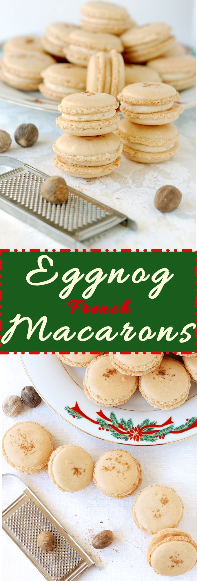 French Macarons are really something special. Make them for the holidays with delicious eggnog flavor. See a detailed slideshow showing the steps to macaron success. #SundaySupper