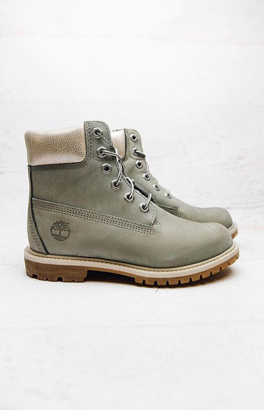 Timberland Women 6-Inch Premium Waterproof Boots - Grey from peppermayo.com