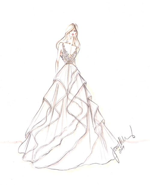 Ball Gown Wedding Dress Sketches – fashion dresses