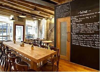 Aria Wine Bar W Village Love The Exposed Brick And Beams Espically Chalkboard Wall