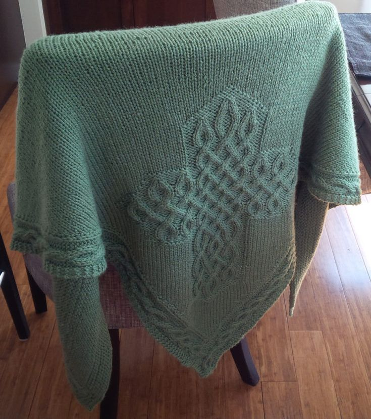 knitting shawl celtic