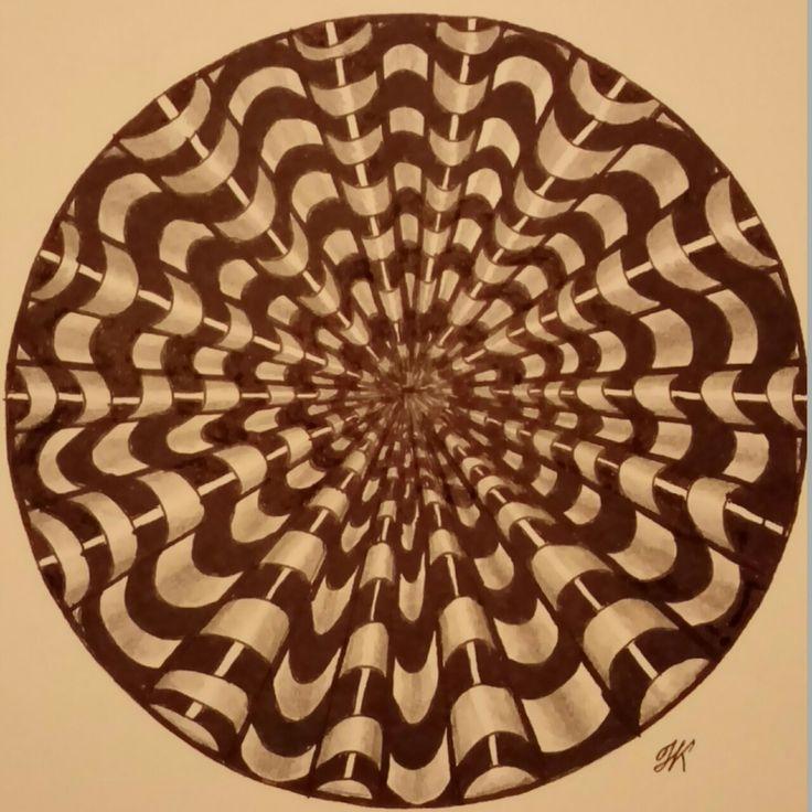"""""""peepholes 2' Zentangle art"""