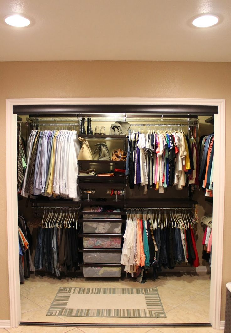 27 best images about master closet organization ideas on for Organized walk in closet