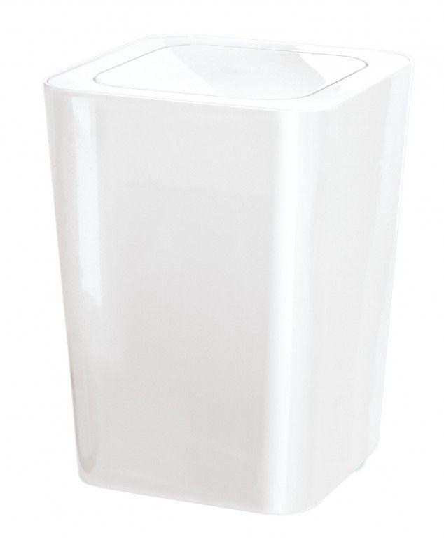 JAMES koupelnový koš výklopný 5l, bílý (5817114858)