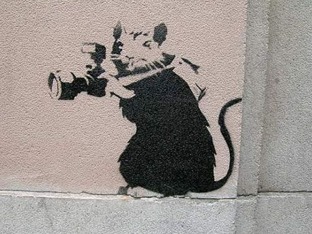 """""""I'd been painting rats for three years before someone said 'that's clever, it's an anagram of art' and I had to pretend I'd known that all along."""" ~ Banksy"""