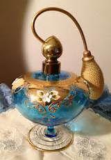 blue ebay glass perfume bottles