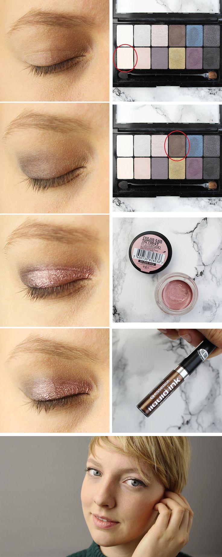 Ein Schimmer-Augenmakeup für's Fest! Wie du den Look schminkst, zeige ich dir auf dem Blog. #schimmer #glitzer #glitter #christmas #xmas #weihnachten #rosa #champagne #blush #makeup #amu #mua #eyes #blue #brown #smokey #shadow #eyeliner #eyeshadow #lidschatten #schminke #anleitung #tutorial