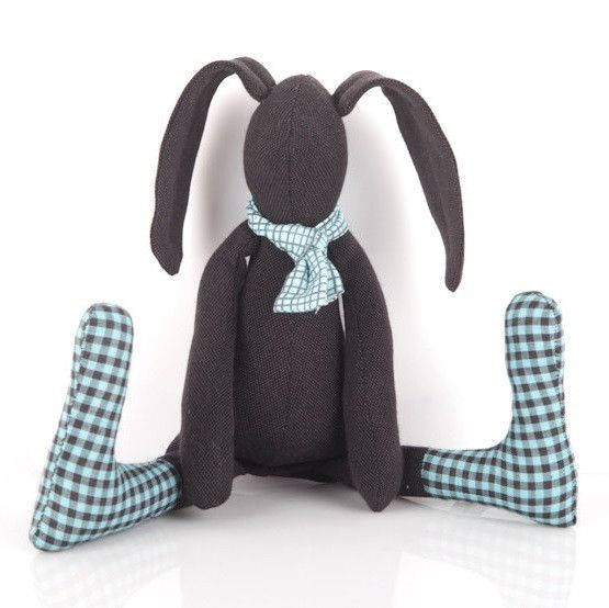 24 best easter gift ideas chocolate alternatives for babies kids timo handmade black fabric baby bunny rabbit soft toy in blue gingham find this pin and more on easter gift ideas negle Choice Image