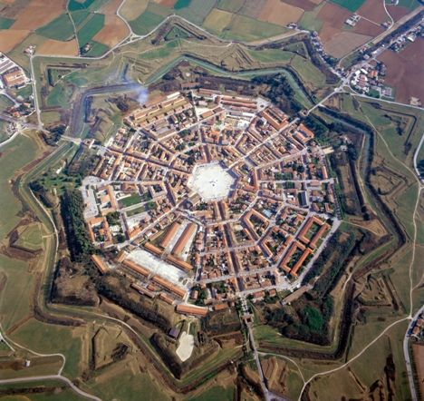 The city planner for this must have been quite an artist! Genius! Bellissimo! Palmanova, Udine in Friuli-Venezia Giulia