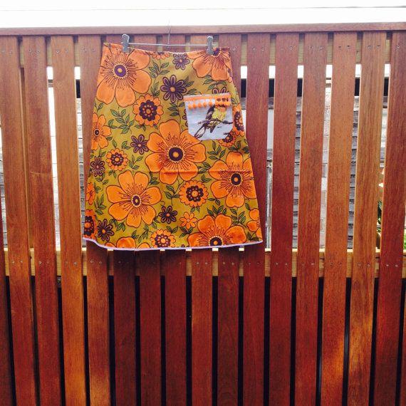 Tom Tit Little Bird Vintage Cotton Fabric Skirt A by byShoebridge