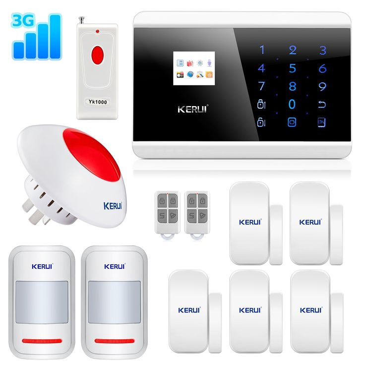KERUI Wireless ANDROID IOS APP 3G WCDMA Home Security Alarm System DIY Kit with Auto Dial KR-8219G Wireless Loud Flashing Siren