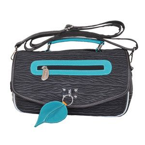 Woody Shoulder Bag Brown Aqua