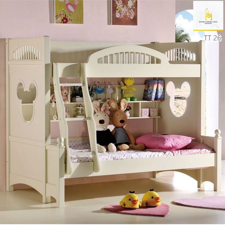 Tempat Tidur Tingkat Anak Perempuan Putih Terbaru