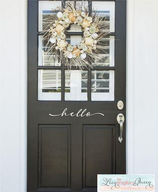 hello front door with wreath                                                                                                                                                      More