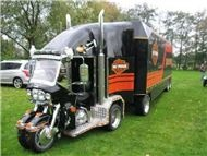 .: Custom Big Rigs, Mobiles Home, Funny Pics, Semi Trucks, Harley Davidson Motorcycles, Roads Trips, Harleydavidson, Transportation Parties, Wall Photos