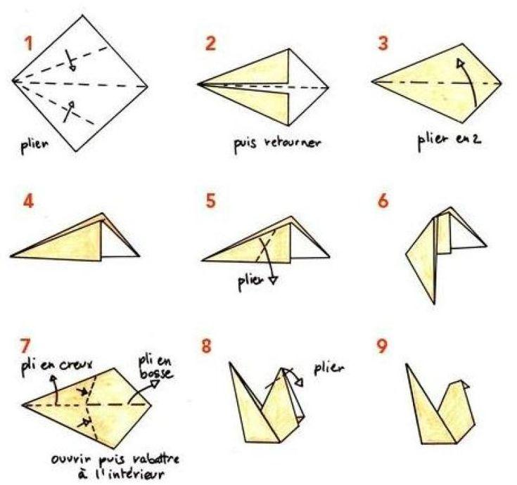 Origami facile poule - Comment faire une poule en papier ...