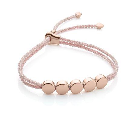 Rose Gold Linear Stone Bracelet Howlite Monica Vinader gVqztpUU0