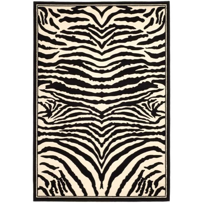 Safavieh Lyndhurst Contemporary Zebra Black/ White Rug (8