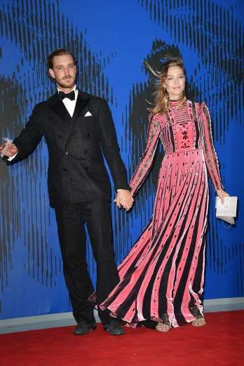 Celebrity PDA of 2017 - December 11, 2017:  Grace Kelly's grandson Pierre Casiraghi held on tight to wife Beatrice Borromeo while attending the Franca Sozzani Award ceremony at the 74th Venice International Film Festival in Venice, Italy, on Sept. 1.