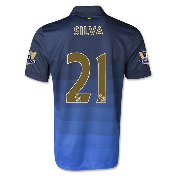 Camiseta Manchester City Alterna 14/15 SILVA#21 *Envío Gratis!  * Facebook: MundoFutbol