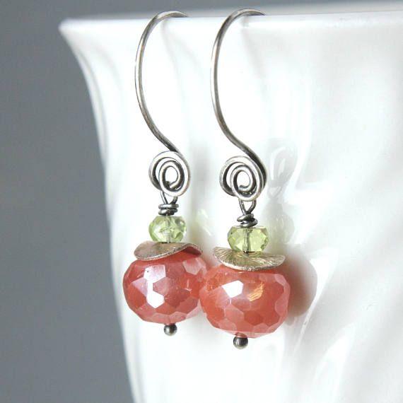 Multi Gemstone  Earrings Sterling Silver  Gemstone Jewelry