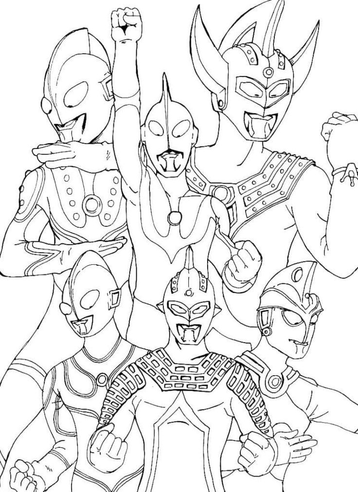 Ultraman Coloring Pages 100 Pictures Free Printable In 2021 Coloring Pages Coloring Pages For Boys Coloring Pictures