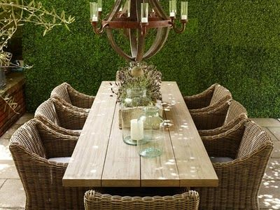 I love the look of these reclaimed wood dining tables from Restoration Hardware.