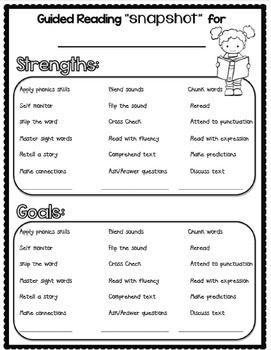 Guided-Reading-Snapshot-Assessment-244331 Teaching