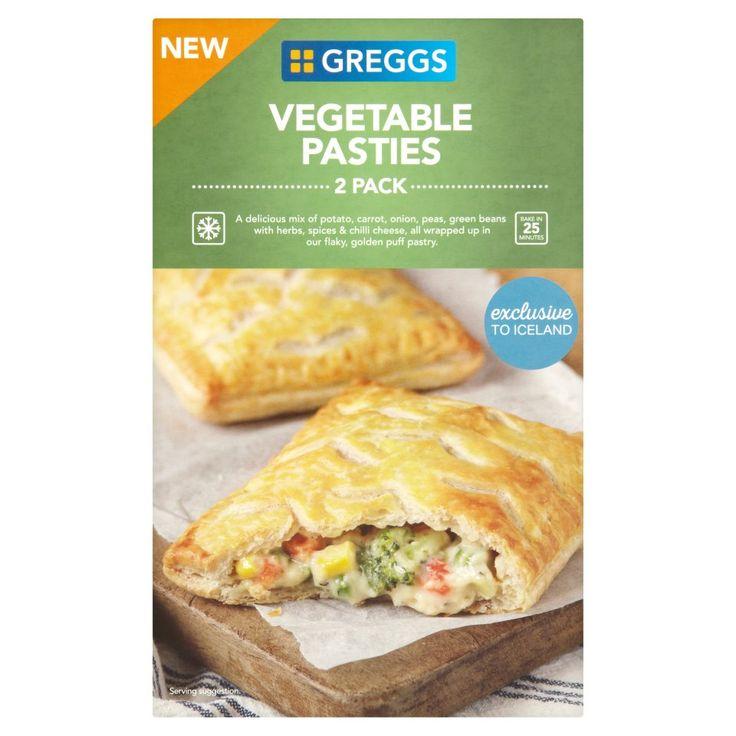 Greggs 2 vegetable pasties 310g vegetable pasties