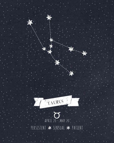Taurus Constellation Print Art Print | Love Being A Taurus ...