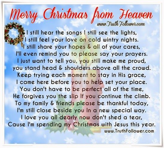The 25+ best Merry christmas from heaven ideas on Pinterest ...