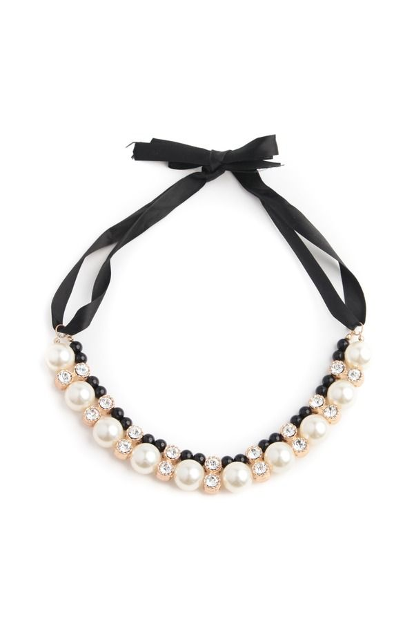 126 best images about shiny treasures on pinterest for Ribbon tie necklace jewelry