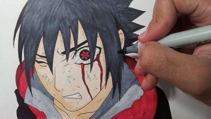 Drawing Sasuke Mangekyou Sharingan - YouTube