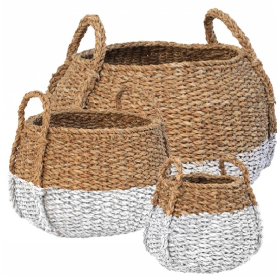 white wash a portion of baskets